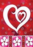 Toland Home Garden Heart andFlowers 12.5 x 18-Inch Decorative USA-Produced Garden Flag