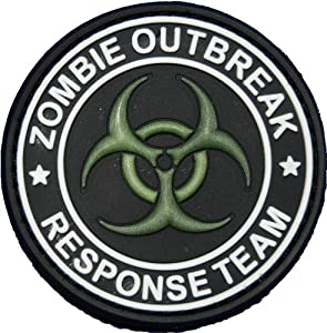 Zombie Response Team Biohazard Morale Patch Glow in the Dark from Tactical Morale Gear