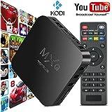 Tonbux ® Quad Core MXQ Smart TV BOX Mini PC Streaming Media Player with KODI(XBMC) Streamer 1GB/8GB, Fully Loaded,Google Android 4.4 KitKat,CPU Amlogic S805, 1.5 GHz