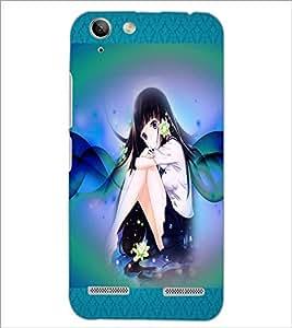PrintDhaba Cute Girl D-5093 Back Case Cover for LENOVO LEMON 3 (Multi-Coloured)