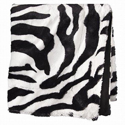 Xhilaration Black & White Zebra Plush Faux Fur Throw Blanket So Soft Plush front-269152