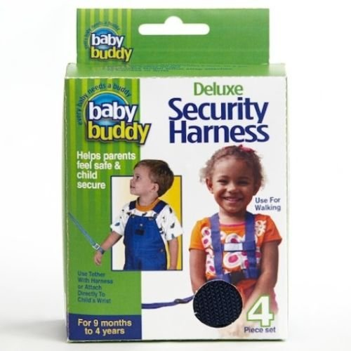 Baby Buddy 4 Pc Deluxe Child Security Harness / Wrist Tether Safety Leash - Navy front-480074