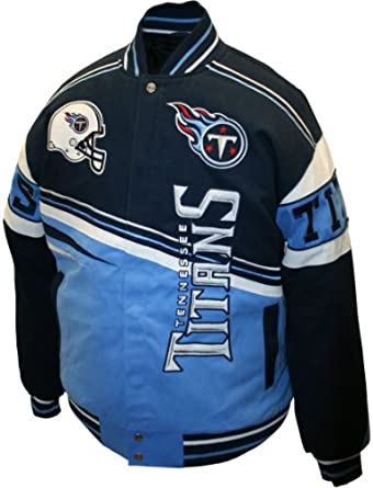 NFL Mens Tennessee Titans 1st and 10 Cotton Twill Jacket by MTC Marketing, Inc
