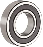 """The General 1630 2RS Extra Light Inch Series Ball Bearing, Double Sealed, No Snap Ring, Inch, 3/4"""" ID, 1-5/8"""" OD, 1/2"""" Width, Max RPM, 1010 lbs Static Load Capacity, 1951 lbs Dynamic Load Capacity"""