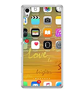ifasho mobile iphone screen shot Back Case Cover for Sony Xperia M4 Aqua