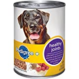 PEDIGREE + Healthy Joints With Beef and Rice Premium Ground Canned Dog Food 13.2 Ounces (Pack of 12)