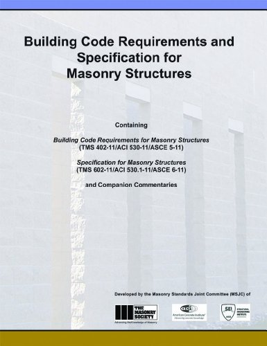 ACI 530-11 Building Code Requirements and Specification for Masonry Structures - Joint publication of The Masonry Society - ACI530-11 - ISBN:1929081367