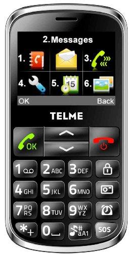 Emporia C155_001 Telme Groß Tasten Handy (5,8 cm (2,3 Zoll) LCD-Display, Notruffunktion Kamera) schwarz