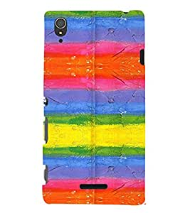 PrintVisa Modern Art Pattern 3D Hard Polycarbonate Designer Back Case Cover for Sony Xperia T3
