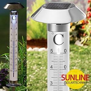 Thermometer solar garten aussenthermometer xxl 118cm for Garten pool xxl