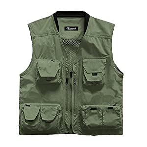 Zicac Outdoor Multi-Pocket Knitted Collar Fishing And Photography Vest