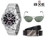 AXE style Combo of Watch, Belt, Sunglass X0182CWBS