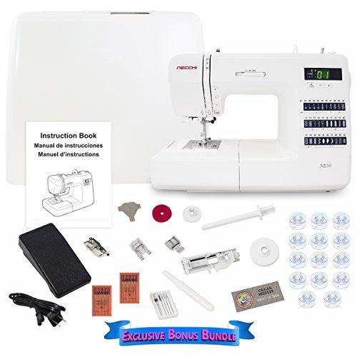 Necchi NE30 Computerized Sewing Machine with Exclusive Bonus Bundle (Necchi Sewing Machine Zipper Foot compare prices)