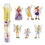 Flitting about the fantasy world are miniature fairies with their shimmering wings, including Rose the Fairy Queen, Daisy the Fairy Baby, and 4 flower fairies with butterfly wings (Jasmine, Buttercup, Violet, and Iris). All these fairies pack...