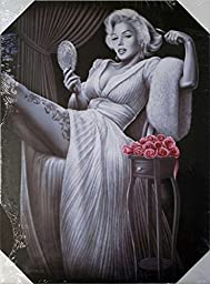 DGA Day of the Dead Marilyn Monroe Classic Stretched Wood Frame Canvas Wall Art 12x16 Inches - Sitting Pretty