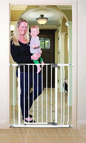 "Dreambaby L768 Liberty Tall Gate Combo Pack - (includes 1 X 3.5"" Extension), White - 1"