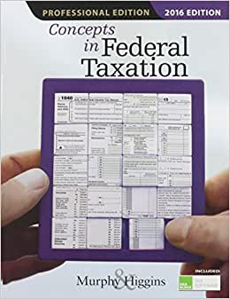 Concepts In Federal Taxation 2016, Professional Edition (with H&R Block(TM) Tax Preparation Software CD-ROM)