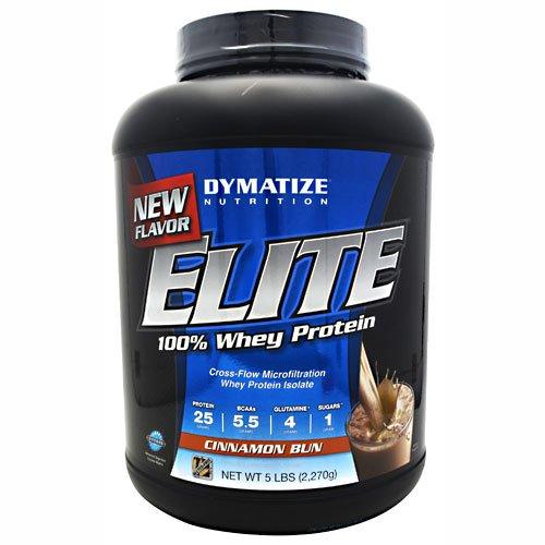 Dymatize Nutrition Elite Whey Shake, Cinnamon Bun, 5 Pound