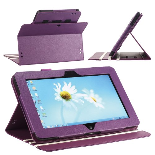 Elegiac DuraBook Case for Dell Latitude 10 ST2 Window 8 Pro Purple (3 Year Maker Warranty From Poetic)