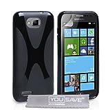 """Samsung Ativ S Tasche Samsung Ativ S Schwarz Silikon Gel X-Linie H�llevon """"Yousave Accessories�"""""""