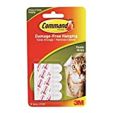 Command Poster Hanging Strips, Small, White, 36-Strips