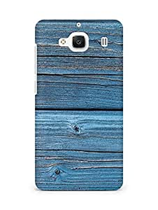 Amez designer printed 3d premium high quality back case cover for Xiaomi Redmi 2 Prime (Texture Wood)