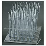 32 UV Gel Acrylic Tips Samples Pop Sticks Clear Nail Art Display Stand Rack Practice Tool