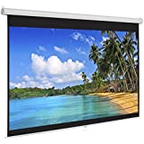 "Best Choice Products Manual Projector Projection Screen Pull Down Screen, 119""L"