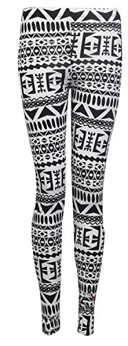 Aislinn-Womens-Aztec-Navajo-Tribal-Print-Jersey-Leggings