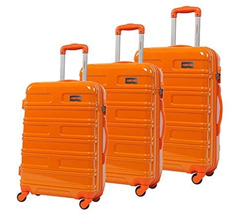 lot de 3 valises-chariots 4 roues- système trolley intérieur