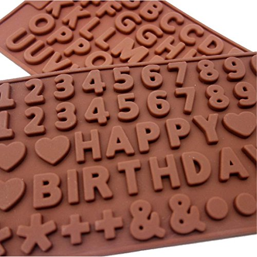 Silicon mold alphabet numbers candy candles handmade soap resin types take DIY (alphabet x numbers)