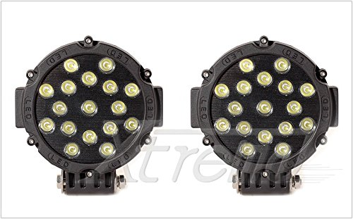 "Xtreme® 2 Pack 7"" Inch 51Watt High Power Led Work Lamp Offroad Light For Truck, 4Wd, Atv, Utv, Bike, Motorcycle (51W Round, Spot Light)"