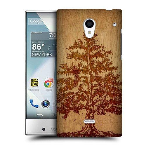 Head Case Designs ツリー ウッド・アート スナップオン ハードケース Sharp Aquos Crystal 305SH LTE 306SH LTE