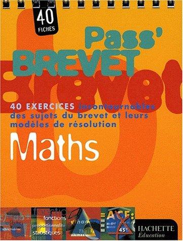 Pass Brevet Math 233 Matiques Collectif Librairie