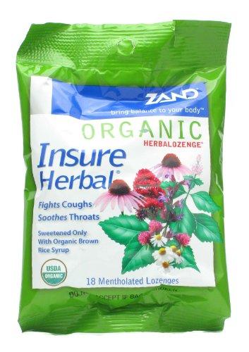 Zand, Organic Herbalozenge Insure Herbal 18 Lozenges