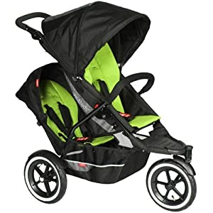 Phil and Teds Explorer Stroller with Doubles Kit- Apple/Black