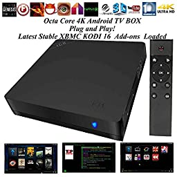 Kukele@ ULOCKED 2G/16G BEELINK I68 - XBMC KODI 16.0 Jarvis Add-ons Fully Loaded - Octa Core 4K Android 5.1 Lollipop TV Box - Apps Pre-installed - KODI KEY & Manual - Watch Anything