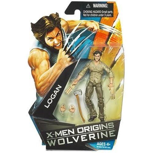 X-Men Origins Wolverine Movie Series 3 3/4 Inch Action Figure Logan with Bone Claws by Hasbro [병행수입품]