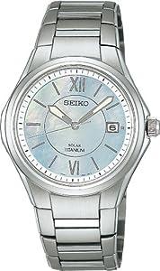 [セイコー]SEIKO 腕時計 SPIRIT スピリット チタン ソーラー 白蝶貝 SBPN013 メンズ