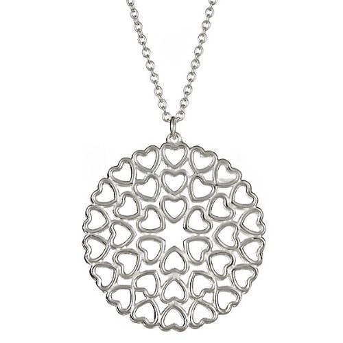 Sterling Silver Crown of Hearts Medallion