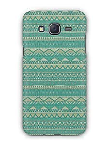 Cover Affair Aztec 3D Printed Back Cover Case for Samsung Galaxy J7 (2015)