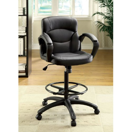 Devlin Drafting Style Leatherette Adjustable Office Chair front-707682