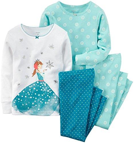 Carter's Baby Girl's 4 Piece PJ Set - Ice Princess - 9 Months