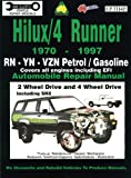 img - for Toyota Hilux/4 Runner Petrol/Gasoline 1970-1997 Auto Repair Man -RN,-YN-Vzn 2 &4 Wh Dr, inc SR5 (Max Ellery's Vehicle Repair Manuals) book / textbook / text book