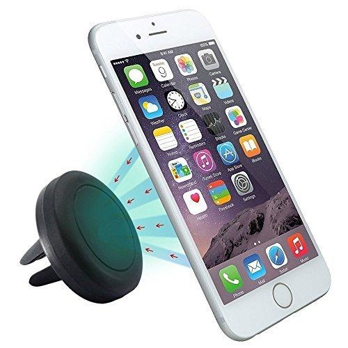 SAVFY® Support téléphone aimanté de voiture VeoPulse pour grille d'aération - universel : compatible tous smartphones (iphone 6S 6 6 plus 5 5S 4