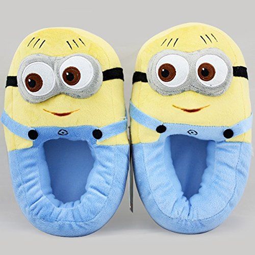 Bigeast Despicable Me 2 Minion Figure Shoes Plush Toy Slippers Two-eye Smile Multicoloured, 30cm - 1