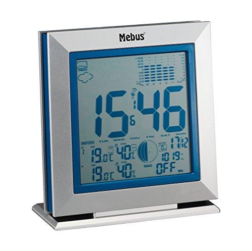 Funkwetterstation mit Wetterprognose, kabellos, 88211, silber