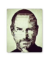 PosterGuy Steve Jobs Typographic Illustration Motivational Famous Personality Mouse Pad