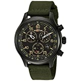 Timex Men's Expedition Field Chrono Black/Green Canvas Strap Watch