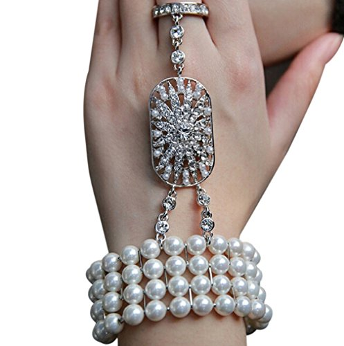 Zking-Art-Deco-The-Great-Gatsby-Inspired-Pearl-Flower-Wedding-Bridal-Bracelet-Bangle-Ring-Set-8